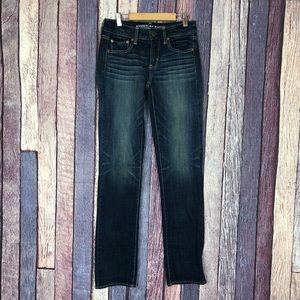 American Eagle Super Stretch Straight Jeans 4 Long